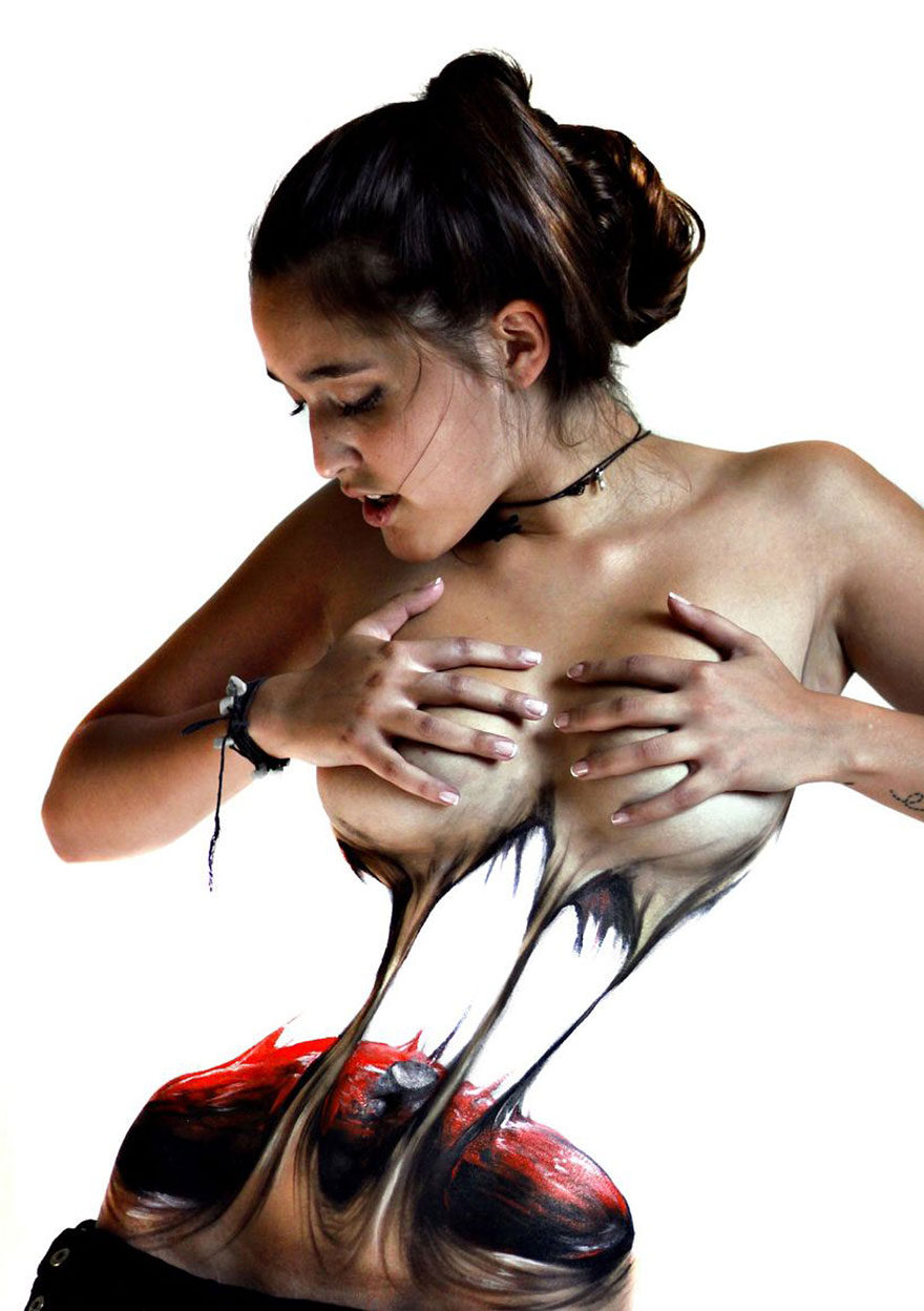 The incredible art of women tearing themselves by Chilean-06