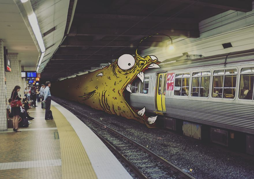 Amazing Photography of Monsters in Daily Life Using iPad_03