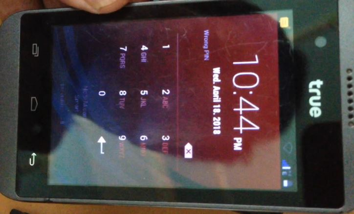 how to clear password true 3.5 smart touch -01