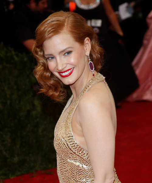 MET Gala 2015 'China: Through The Looking Glass' Costume Institute Benefit Gala at the Metropolitan Museum of Art - Arrivals Featuring: Jessica Chastain Where: New York City, New York, United States When: 04 May 2015 Credit: WENN.com **Not available for publication in Germany**