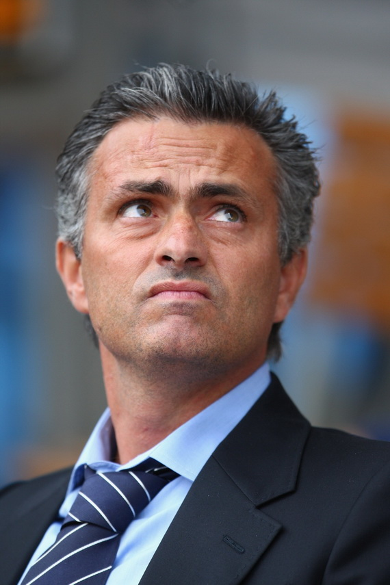 BIRMINGHAM, UNITED KINGDOM - SEPTEMBER 02: Jose Mourinho the manager of Chelsea during the Barclays Premier League match between Aston Villa and Chelsea at Villa Park on September 02, 2007 in Birmingham, England. (Photo by Mark Thompson/Getty Images) *** Local Caption *** Jose Mourinho