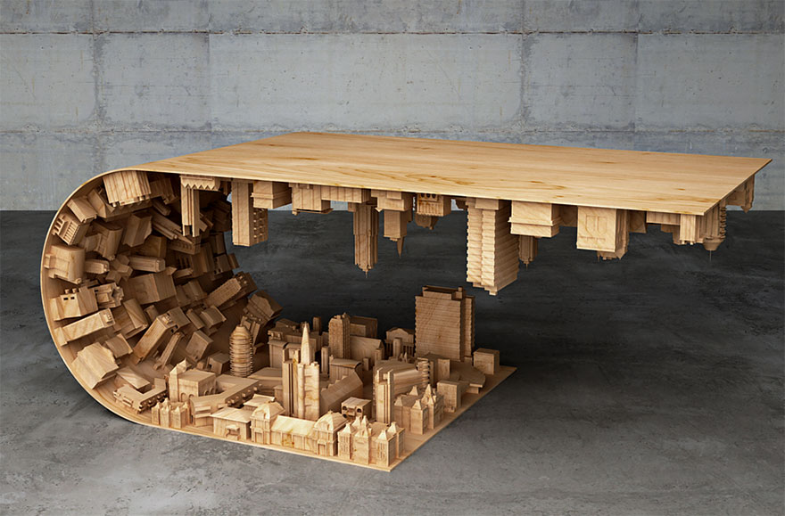 Inception-Inspired Coffee Table Bends A City In Your Living Room-