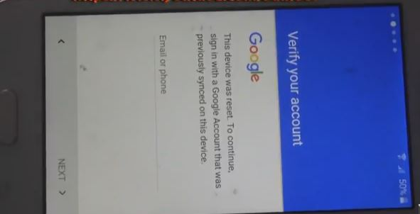 locked by Google Account , Google Account that was previously synced on the device