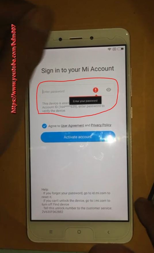 How to Skip /bypass the locked Mi Account on Redmi Note 4