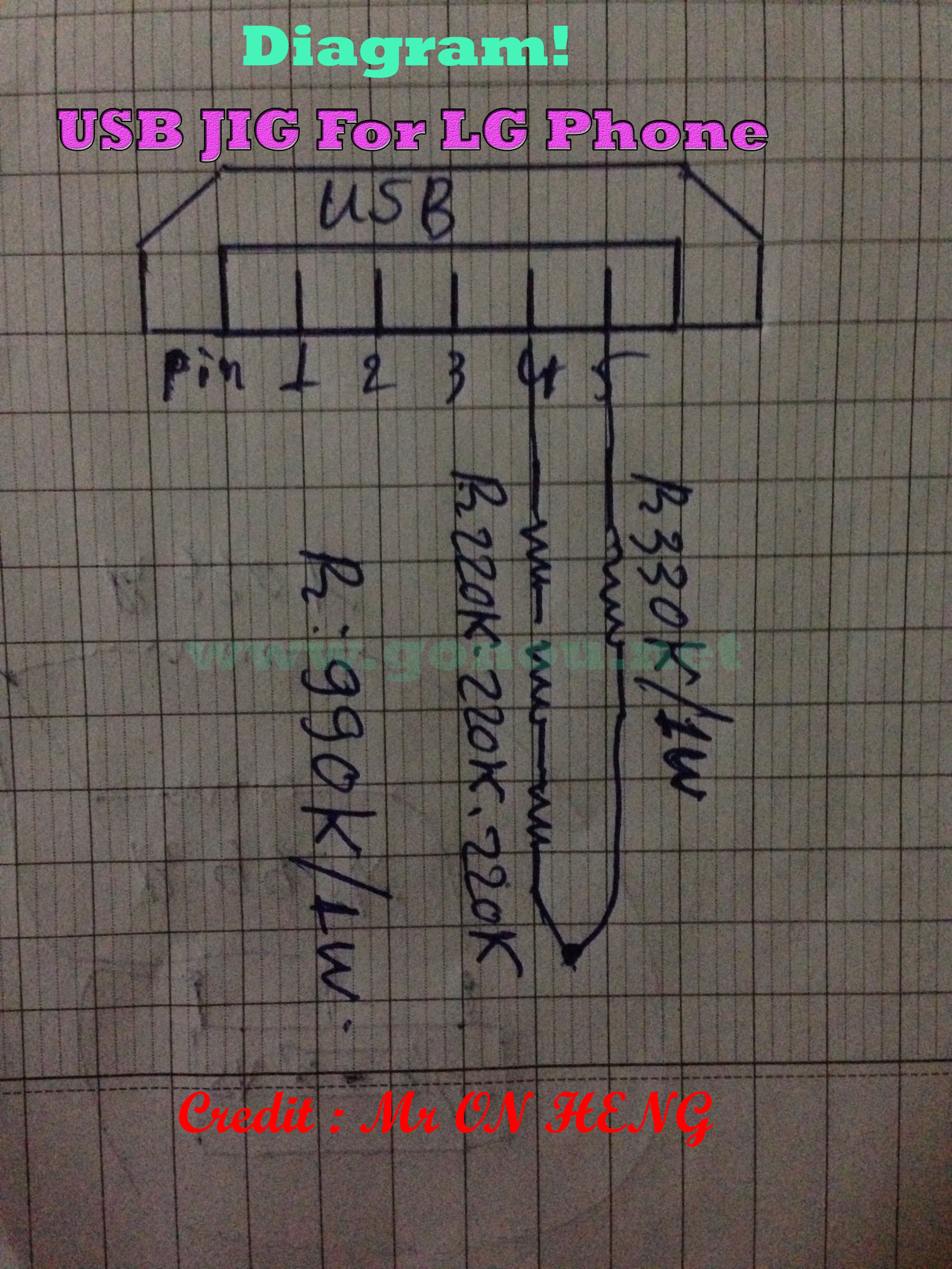 Diagram- USB jig For LG Phone