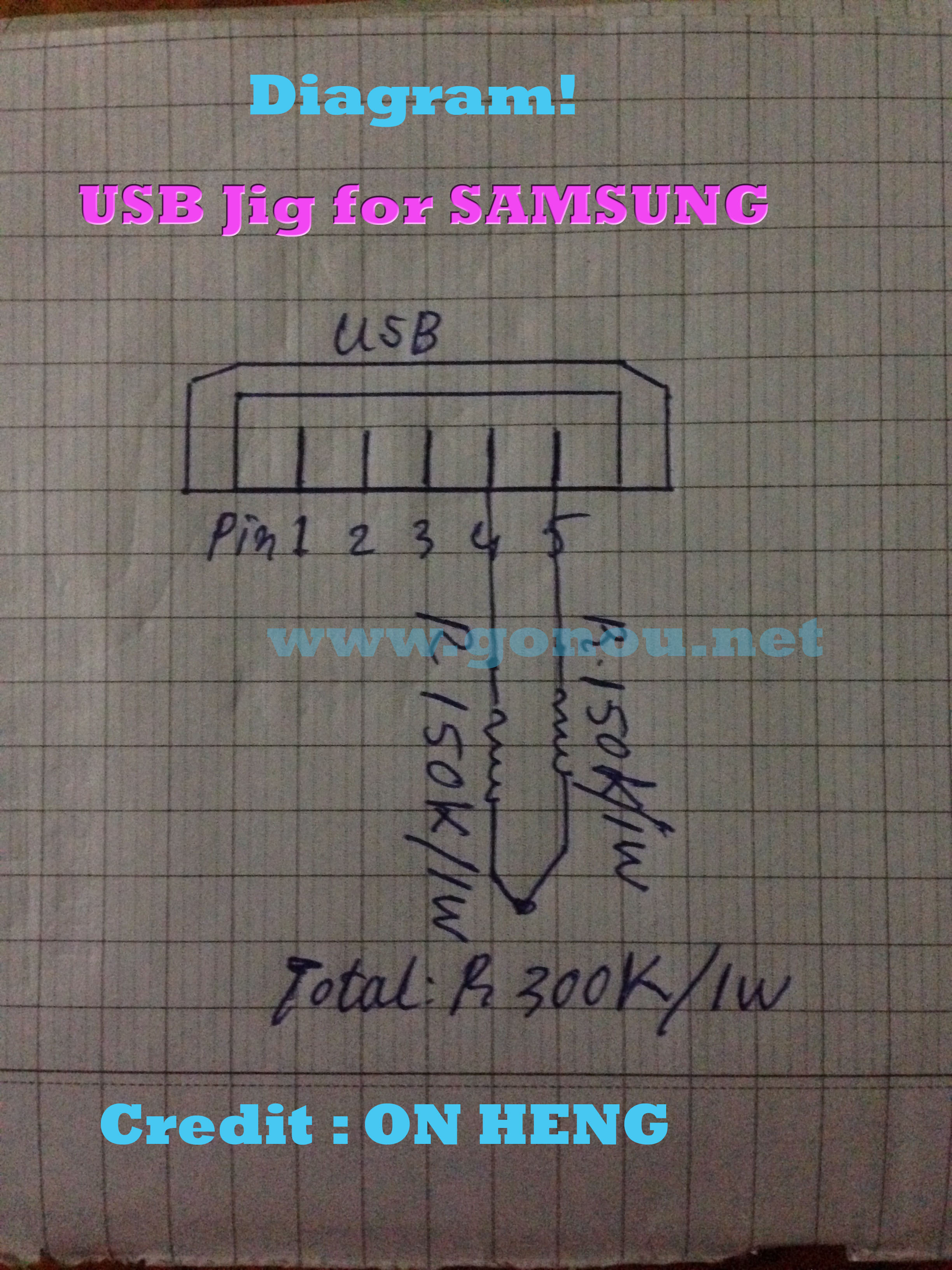 Diagram- USB jig For Samsung