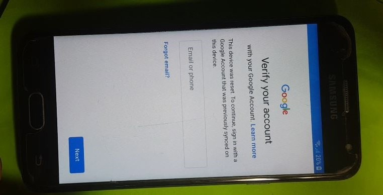 SAMSUNG Galaxy J5 Prime- SM-G570Y SAMSUNG DEVICES running Android 8.0 . FRP lock on!