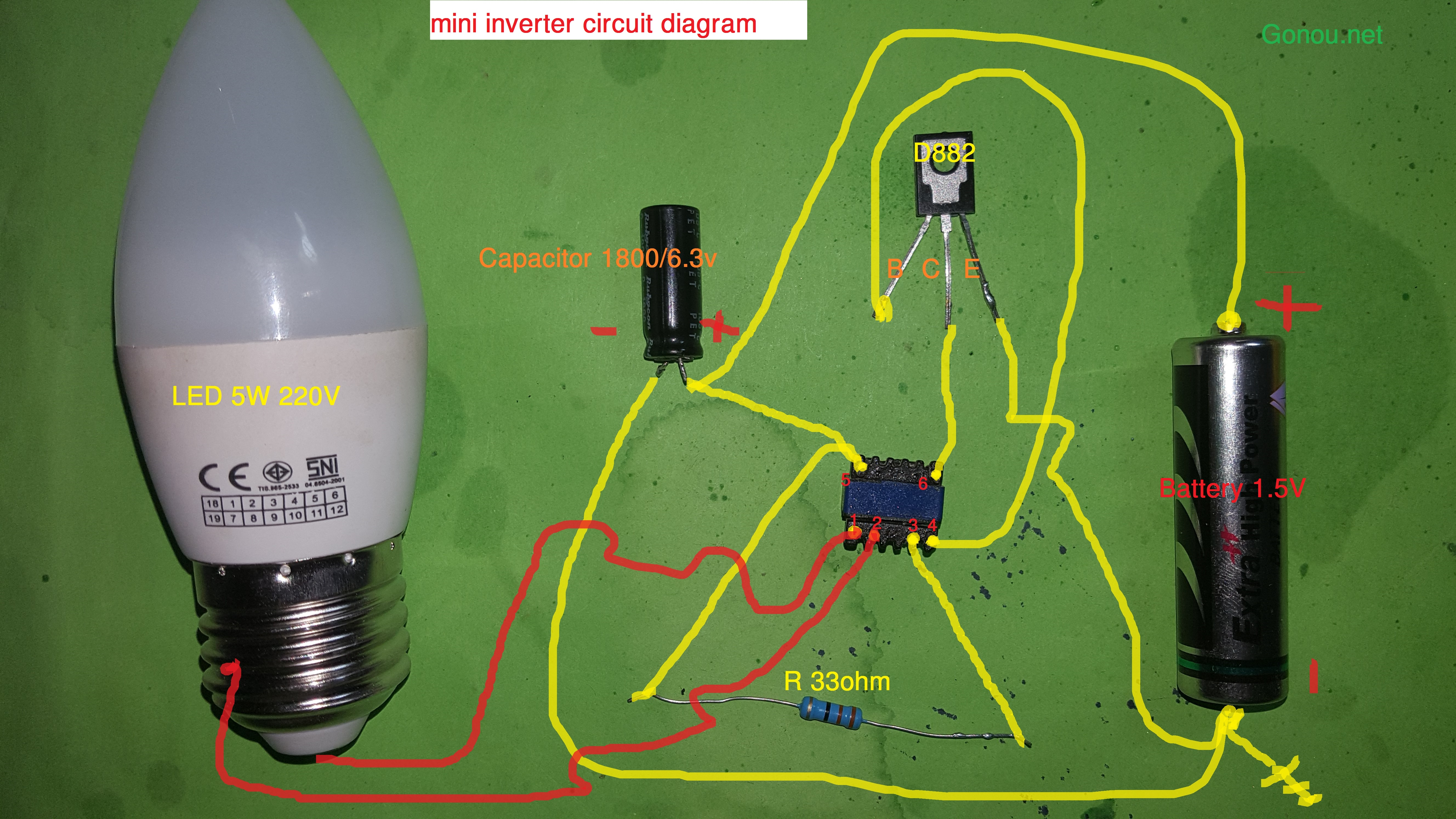 How to make Mini invertor & Electric circuit