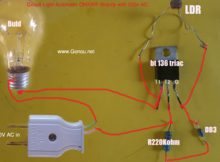 Light automatic turn off / Turn On circuit