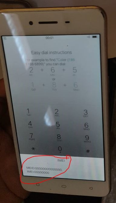 Oppo A37M-MT6750 -Imei lost