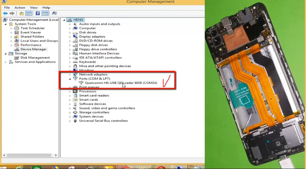 USB Sreial Port COM in Computer Device Manager