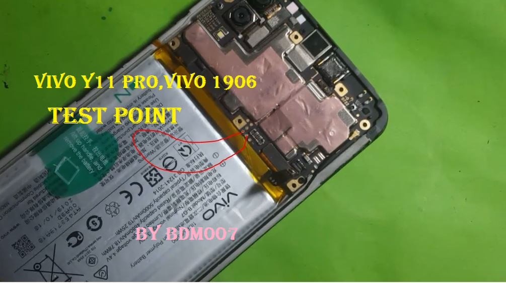Images of Test Point or Make EDL mode Vivo1906