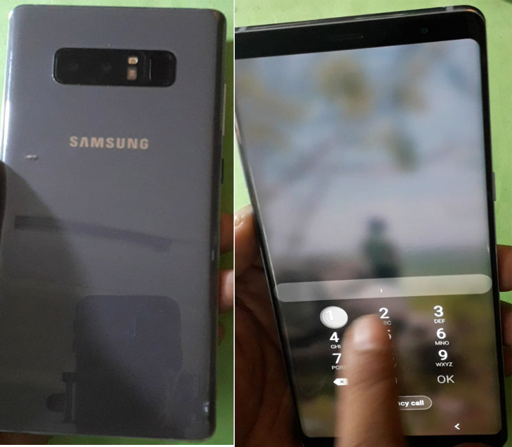 Samsung Galaxy Note 8 while device stay with screen or Pin code and was forgotten