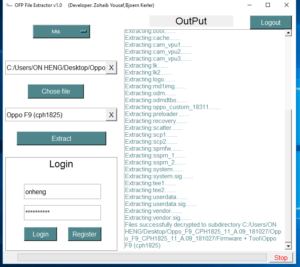 Firmware Extract done from OFP to Scatter